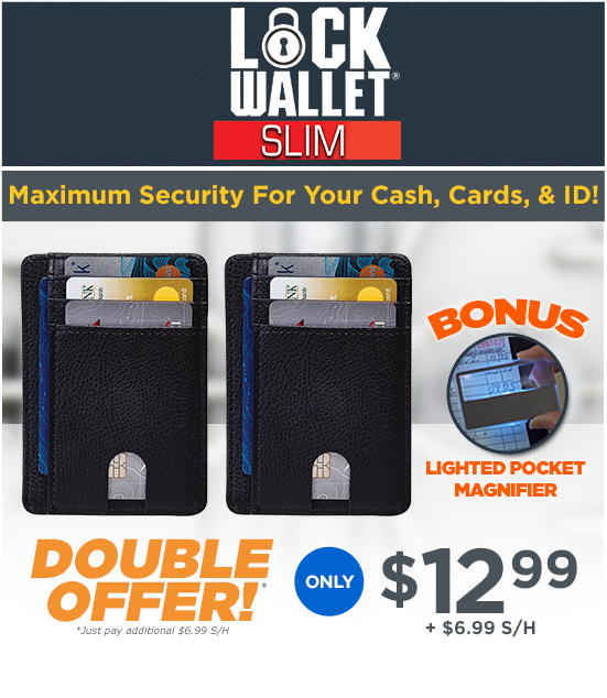 Order Lock Wallet® Slim Now!